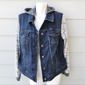 Torrid Denim Jacket With Hood